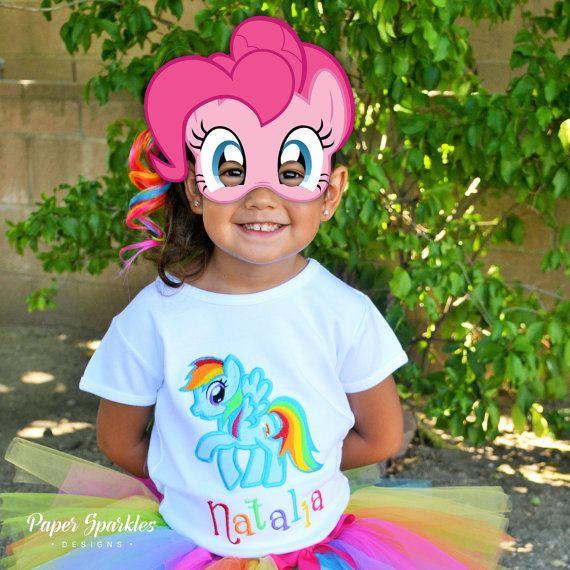 Mi poco pony máscaras mi pequeña fiesta de por PaperSparkleDesigns                                                                                                                                                                                 Más