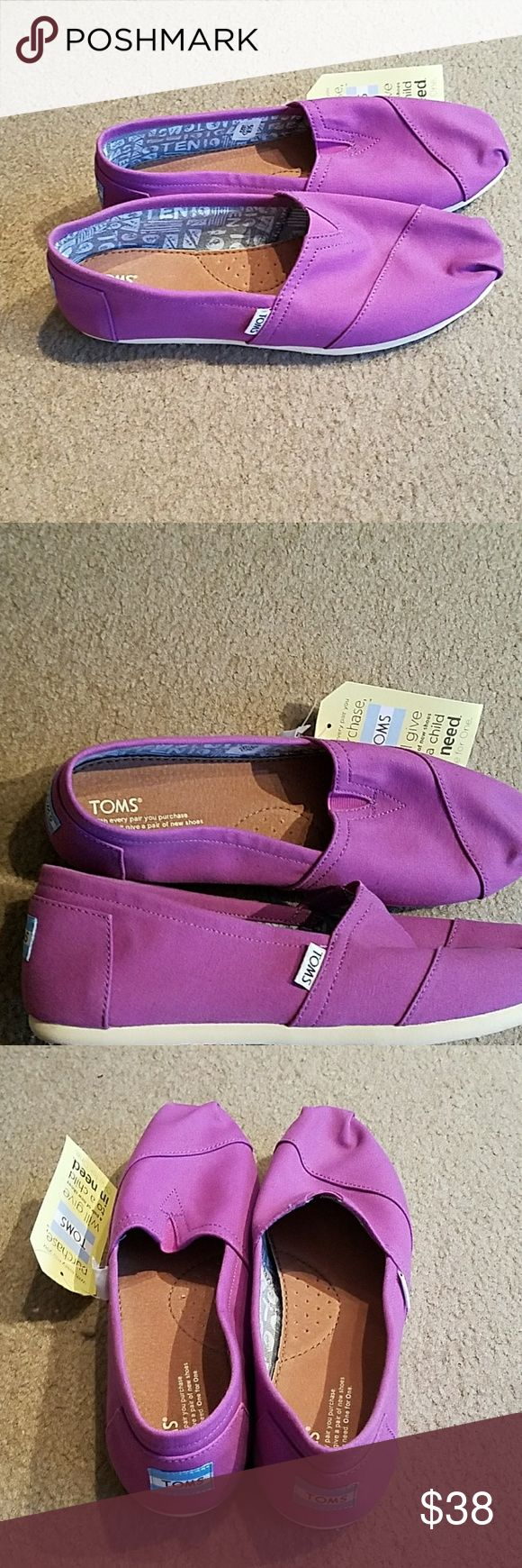 NWT: purple Toms NWT: purple times. Size 11 women's. Toms Shoes Sneakers