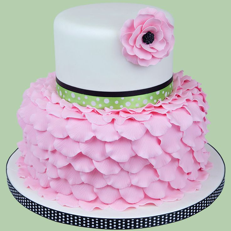 See how easy it is to make this sweet Rose Petal Cake ...
