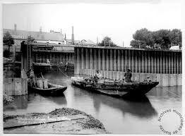 Construction de l'écluse du canal Saint-Félix, quai Ferdinand Favre