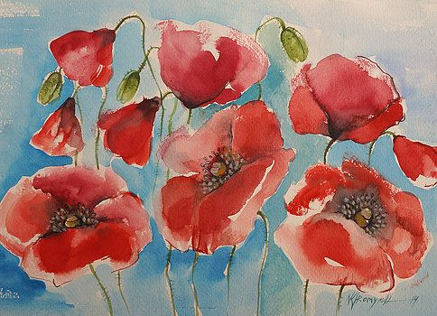 Khromykh Natalia - red poppies