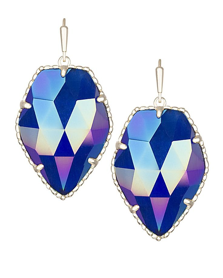crystal shop earrings b cobalt pave drop mini sophia