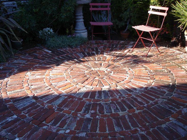 Misty Morning Gardens - Orinda, CA, United States. Reclaimed brick patio