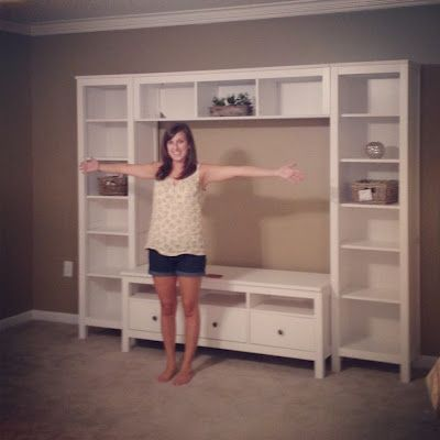 ikea hemnes entertainment center. -- dang.  that would be perfection right now.