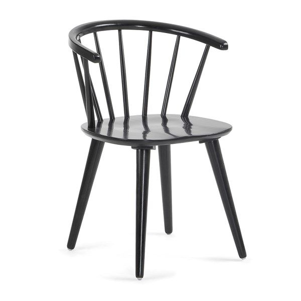 Pair Of Krise Spindle Back Dining Chairs In Black Chair Dining