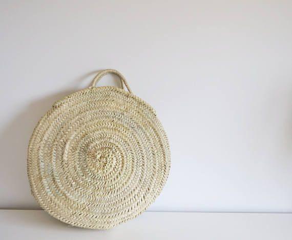 Maria Rita Medium Market Basket - Round Basket- Palm Leaf-Handmade-Palm Leaf Tote bag-Portuguese Handmade Bag-La Petite Sardine