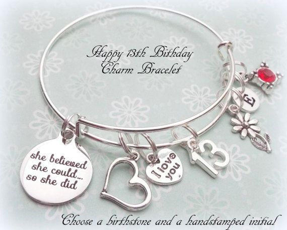 13th Birthday Gift, Happy Birthday Gift for Girl Turning 13, Personalized Jewelry Gift, Gift for Daughter Turning 13, Teenage Girl Gift