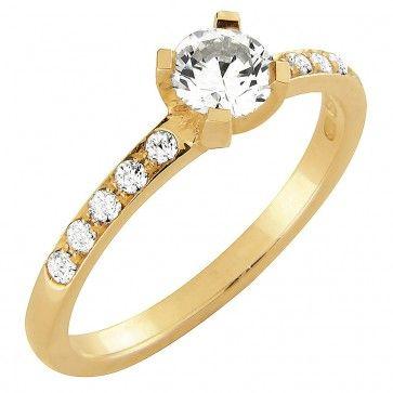 #Vihkisormus - Dallas - #MalminKorupaja. #Timanttisormus, #keltakulta. #Diamond #ring by Malmin Korupaja. #Wedding ring, #yellowgold.