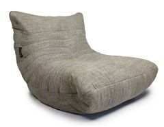 Acoustic Sofa - Eco Weave. 40%polyester, 35% acrylic, 25% cotton. 610gm weight This is a heavyweight, soft and extremely durable fabric. A fabric that is made for high end sofas, the Eco Weave is far superior in quality to a standard bean bag material