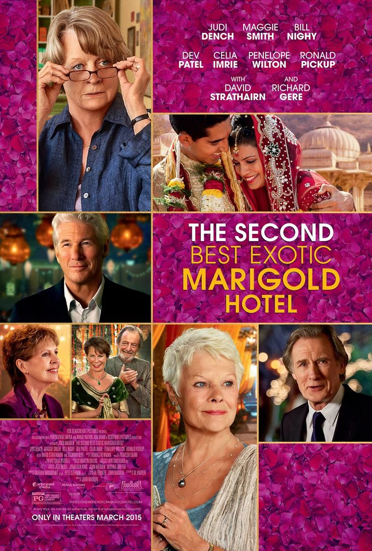 The Second Best Exotic Marigold Hotel (2015) - US One Sheet