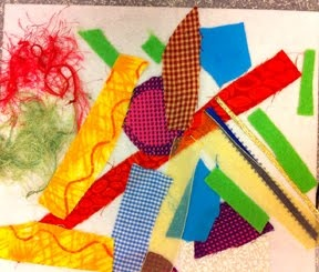 fabric collage project.