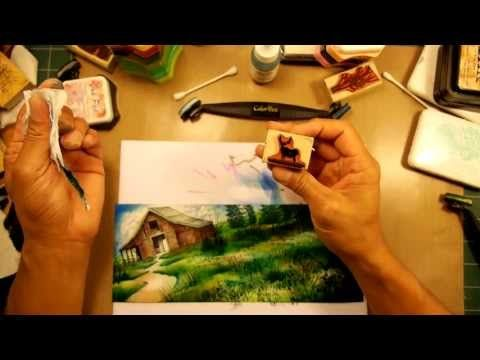 Stampscapes 101: Video 51. Spring Meadow and the Barn. - YouTube