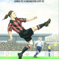 It's time for another Neil Gower artwork - this time a Viva cover, which transmuted into a Lewes Ladies FC poster. Can anyone spot the mistake though?