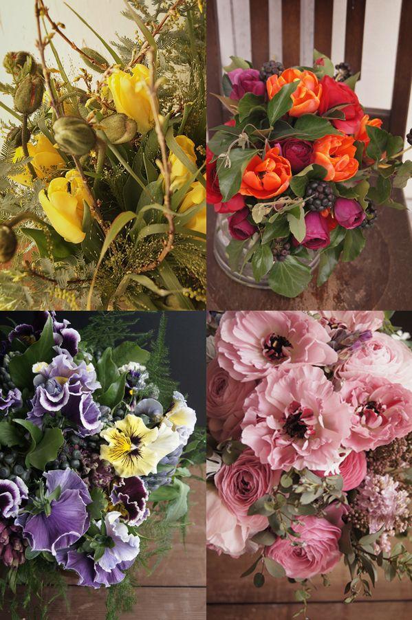 パリの花屋さんのブーケレッスン@  RA fleuriste
