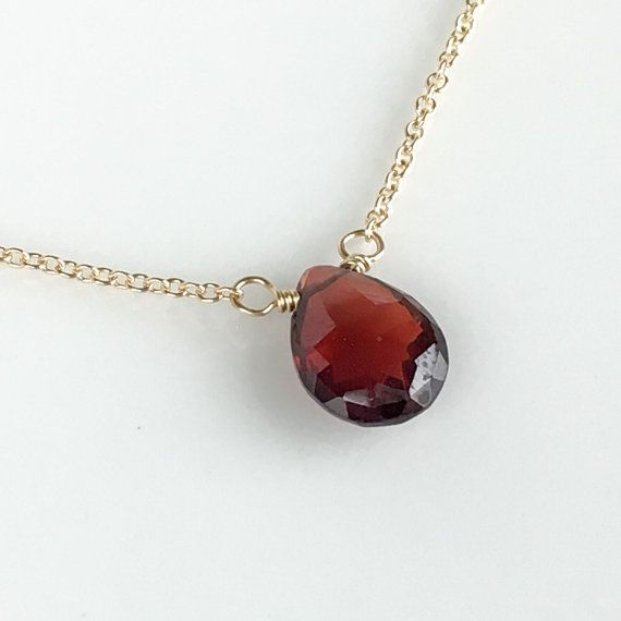 Hey, I found this really awesome Etsy listing at https://www.etsy.com/listing/482747100/garnet-necklace-january-birthstone