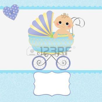 kinderwagen%3A+Leuke+template+voor+baby+aankomst+aankondiging+kaart
