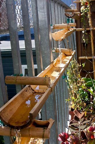 Bamboo water way