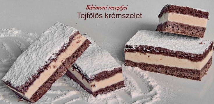 Bibimoni Receptjei: Tejfölös krémszelet