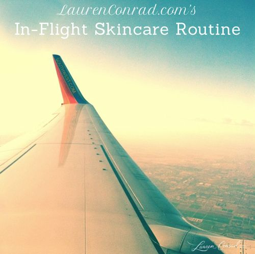 The Best In-Flight Skincare Routine {pin and read later!}