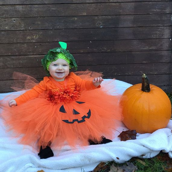 Pumpkin tutu costume  toddler pumpkin costume by SarahsMoon