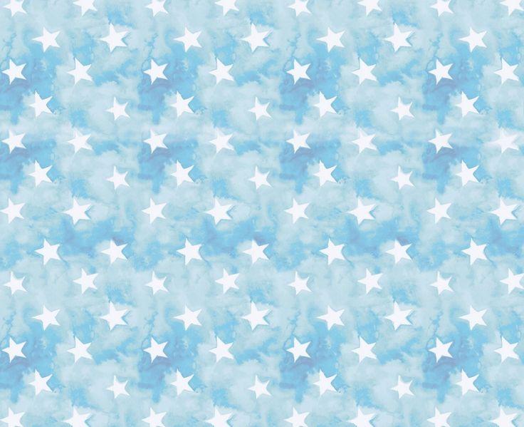 Фон белые звёзды на небесном фоне.
