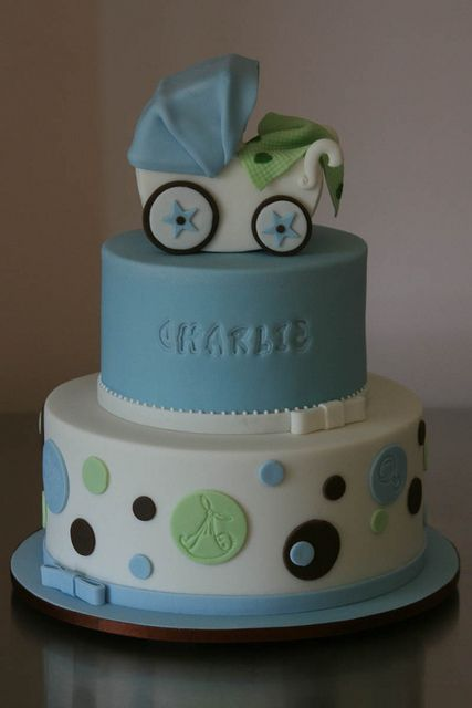 Charlie's Christening Cake by Rouvelee's Creations, via Flickr