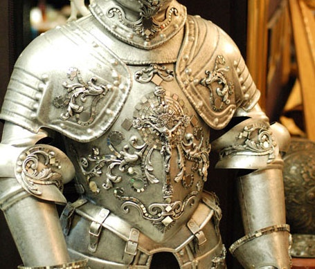 Knight of the Mirrors armor for the Man of La Mancha play on Broadway.