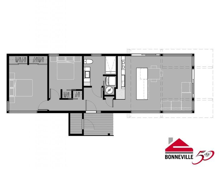 Les 25 meilleures id es concernant maison bonneville sur for 16x50 house plans