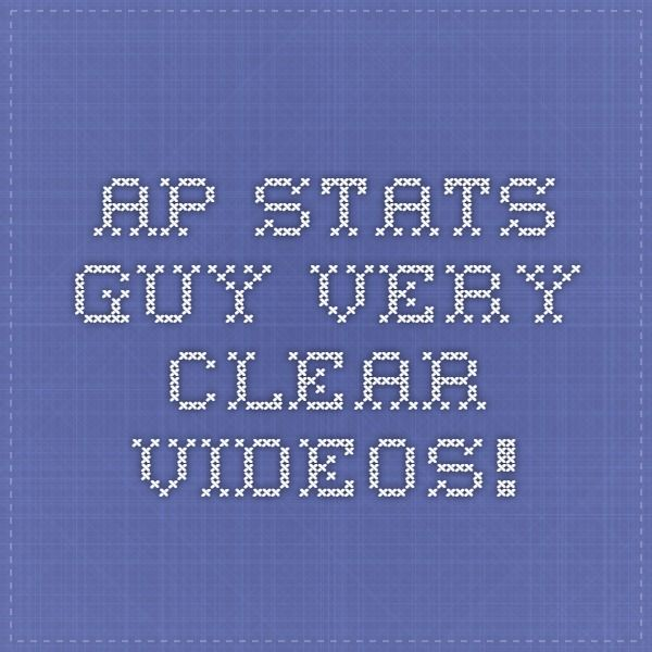 AP Stats Guy--very clear videos!