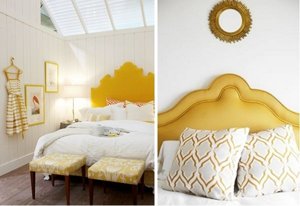 Love Yellow for the bedroom with lots of white furniture.