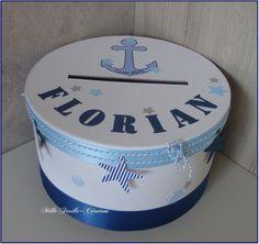 Urne de baptême personnalisée – thème mer