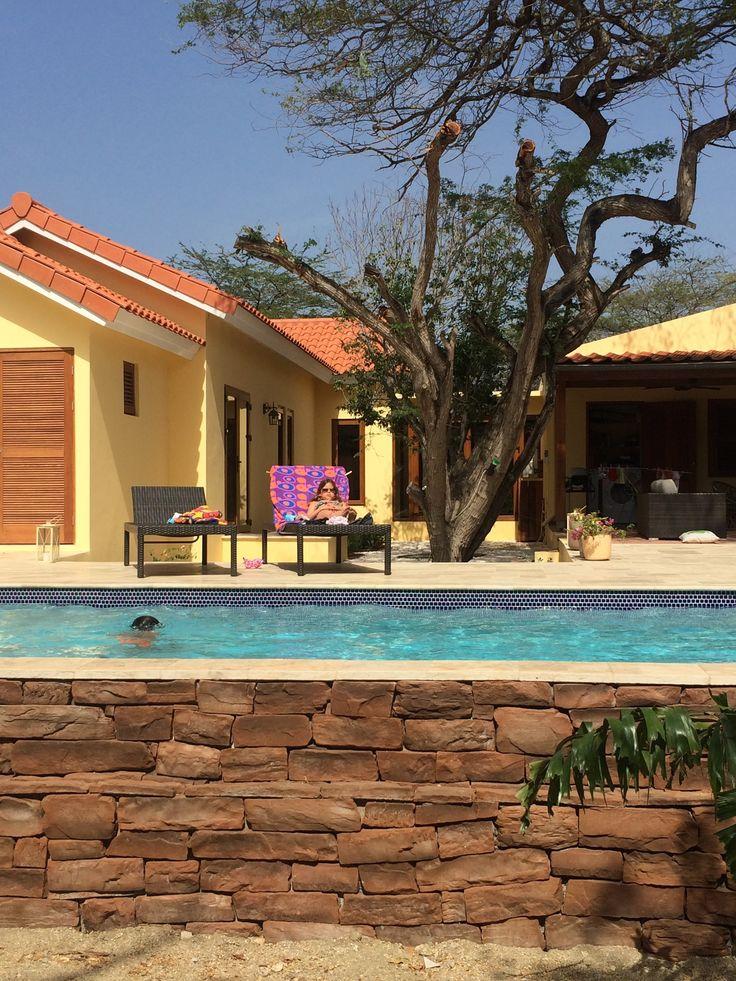 Relaxing at Villa Adelaida #villa  #aruba #holidayrental  #caribbean villa