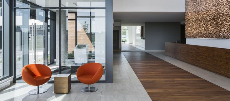 POINTE-NORD | Montreal | Architecture | Interior Design | Evolo 2 | Residential | Wood | Chairs | Windows | Lobby | White | Gold | Art | Light