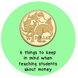 Teaching students about money can be SO confusing. For example, the 2 dollar coin is actually smaller in size than the 10 cent coin! Read more about the things teachers need to consider when teaching their students about money here: https://curiousfoxweb.wordpress.com/2016/11/29/6-things-to-keep-in-mind-when-teaching-students-about-money/