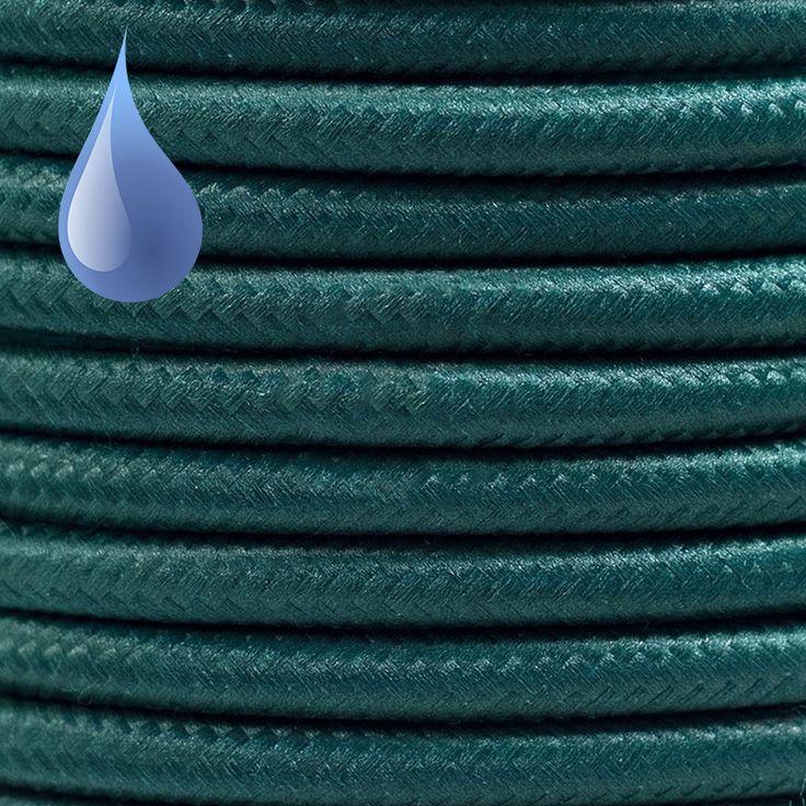 Comprar | Cable textil decorativo exteriores color verde | Cable textil colores exterior #iluminacion #decoracion #accesorioslamparas #lamparas #cablesdecolores  #cables electricos #cableelectricoexterior