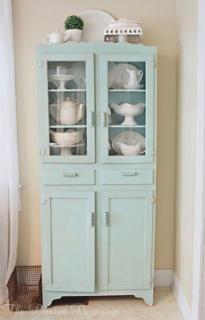 blue vintage cupboard.