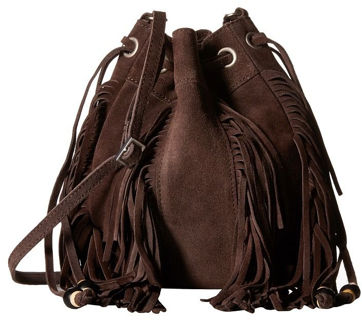 I say yes to bags with fringe | TOMS Celestial Soft Suede Mini Crossbody