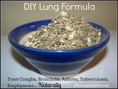 DIY Lung Formula for Coughs, Asthma, Bronchitis, Tuberculosis, Emphysema at Jill's Home Remedies