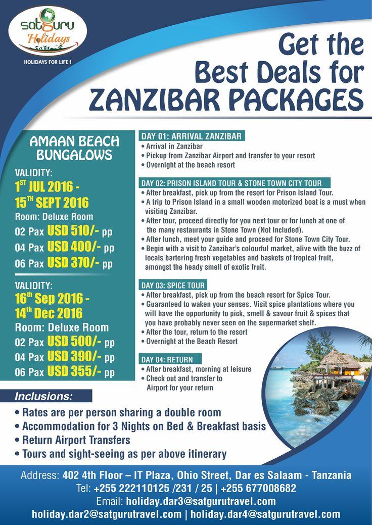 Get the best deals on Zanzibar Holiday Package.