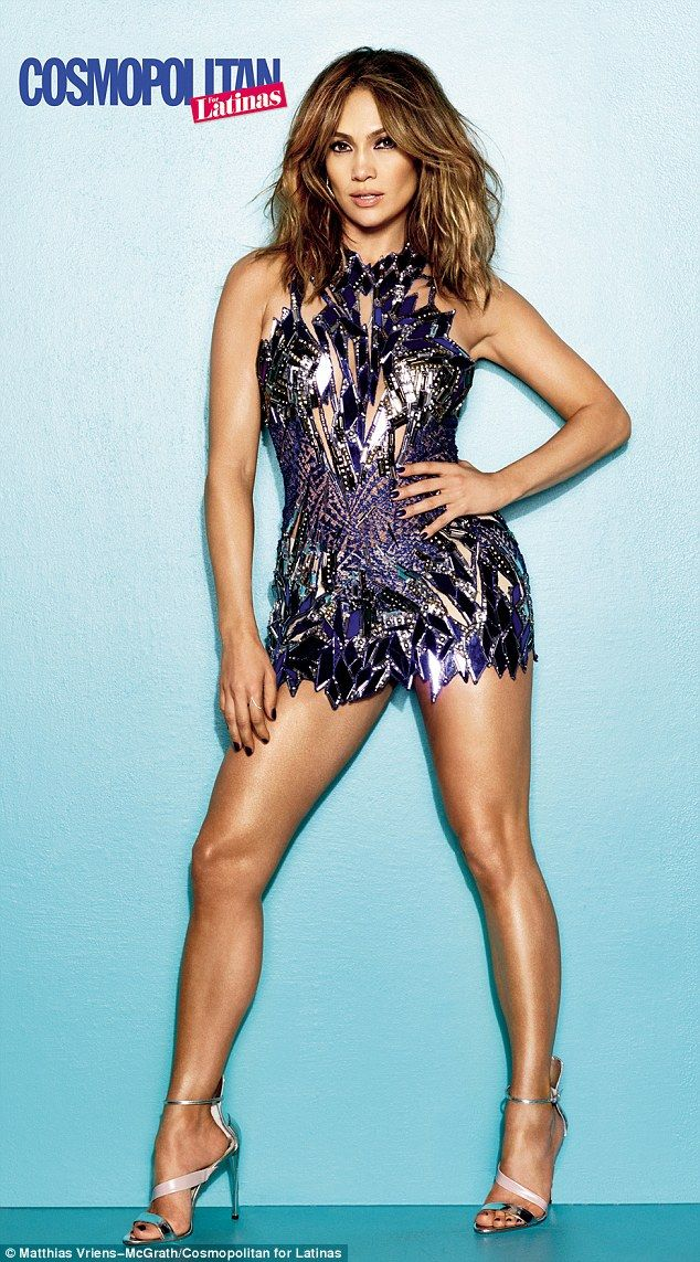 Sultry: Jennifer Lopez shares her pride for her voluptuous figure in the Winter 2013 Cosmopolitan For Latinas issue, as she sizzles in a pur...