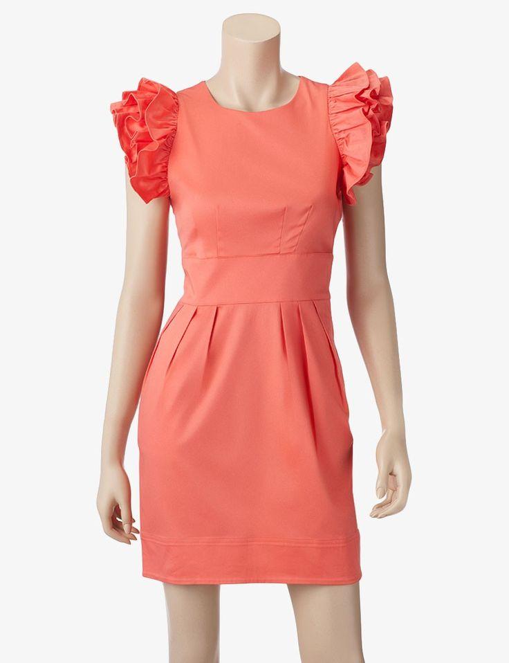 98.00 Jessica Simpson Ruffle Shoulder Dress