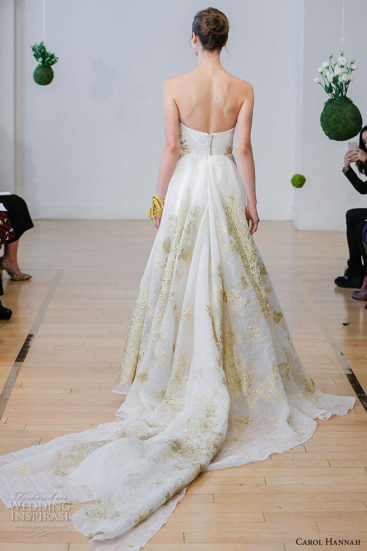 carol hannah 2017 bridal strapless sweetheart neckline full embellishment gold embroidery accents princess a  line wedding dress chapel train (centaurea) bv