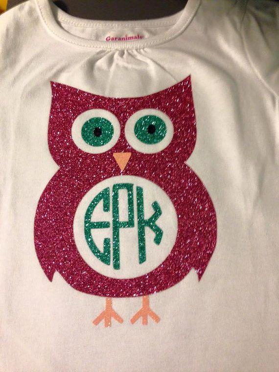 Personalized Owl Shirt With Monogram Monograms Monogram