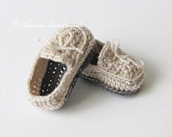 zapatos de crochet, Zapatos para niños, Zapatitos para bebé, Mocasines de gancillo,Mocasines para bebé,regalo,Zapatos para bautizo