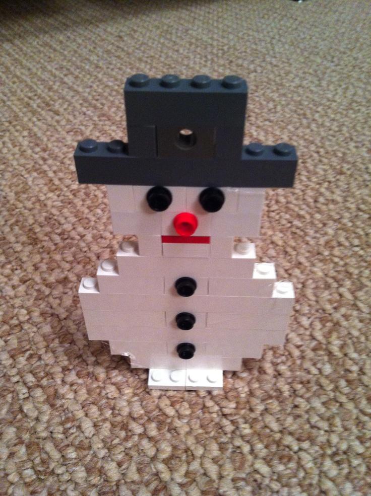 lego christmas winter lego snowman ornament