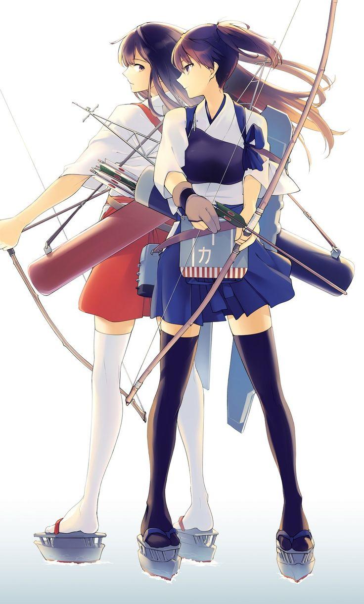 艦隊これくしょん 艦これ 赤城 加賀 / Kantai Collection Akagi Kaga #1374-A