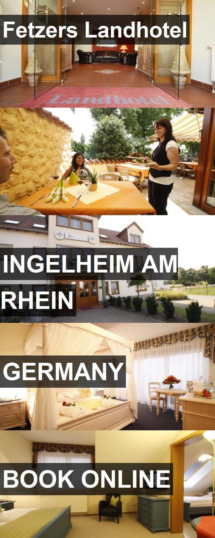 Fetzers Landhotel in Ingelheim am Rhein, Germany. For more information, photos, reviews and best prices please follow the link. #Germany #IngelheimamRhein #travel #vacation #hotel