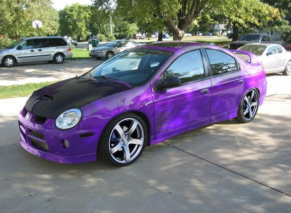 Dodge Neon Srt4 Grand Caravan Purple Car Car Girl