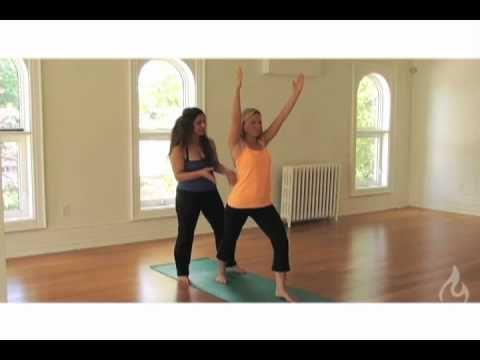 Warrior I Pose Tip. Improve your Moksha Yoga practice of Warrior I (Virabhadrasana-I).
