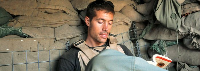James Foley- Prayed the rosary during captivity.   Looks like he's reading The Alchemist, one of my favorite books